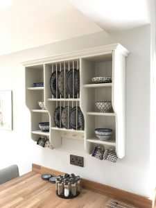 wooden plate rack finished and mounted view 9