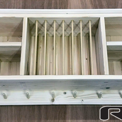 ann wooden plate rack | wall mounted plate rack view 3