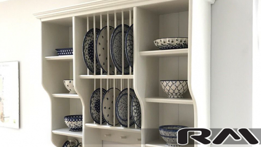 diana wooden plate rack | wall mounted plate rack view 5