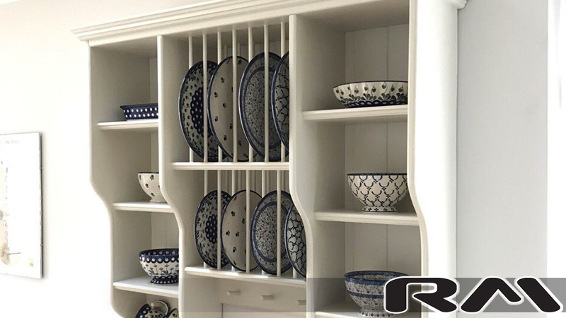 Diana u2013 Shaby Chic Style Pine Plate Rack ... & Diana - Shaby Chic Style Pine Plate Rack (1000mm wide) - RM Direct