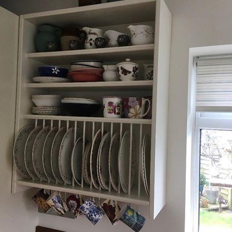 Customer Wooden Plate Rack